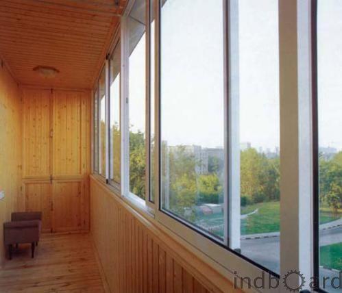 Остекление, обшивка, утепление балконов и лоджий в рассрочку.